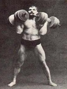 Arthur Saxon Overhead Dumbell Press