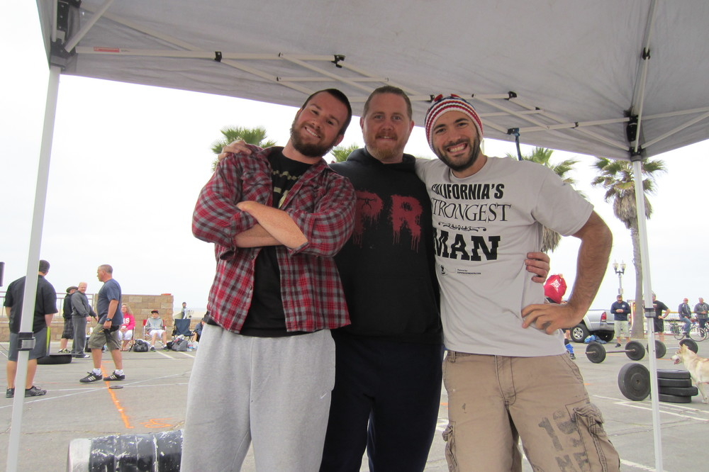 3 Strongmen and personal trainers, representing Strong Made Simple at CA Strongest Man 2013.