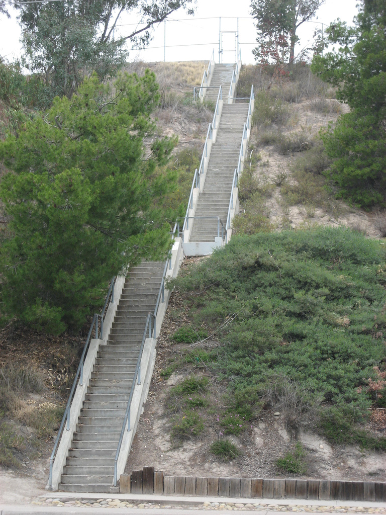 Tierrasanta Stairs of Death are a favorite of Strong Made Simple personal training clients.