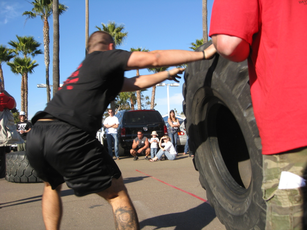 Being quick between implements counts for a lot of time in strongman medleys.