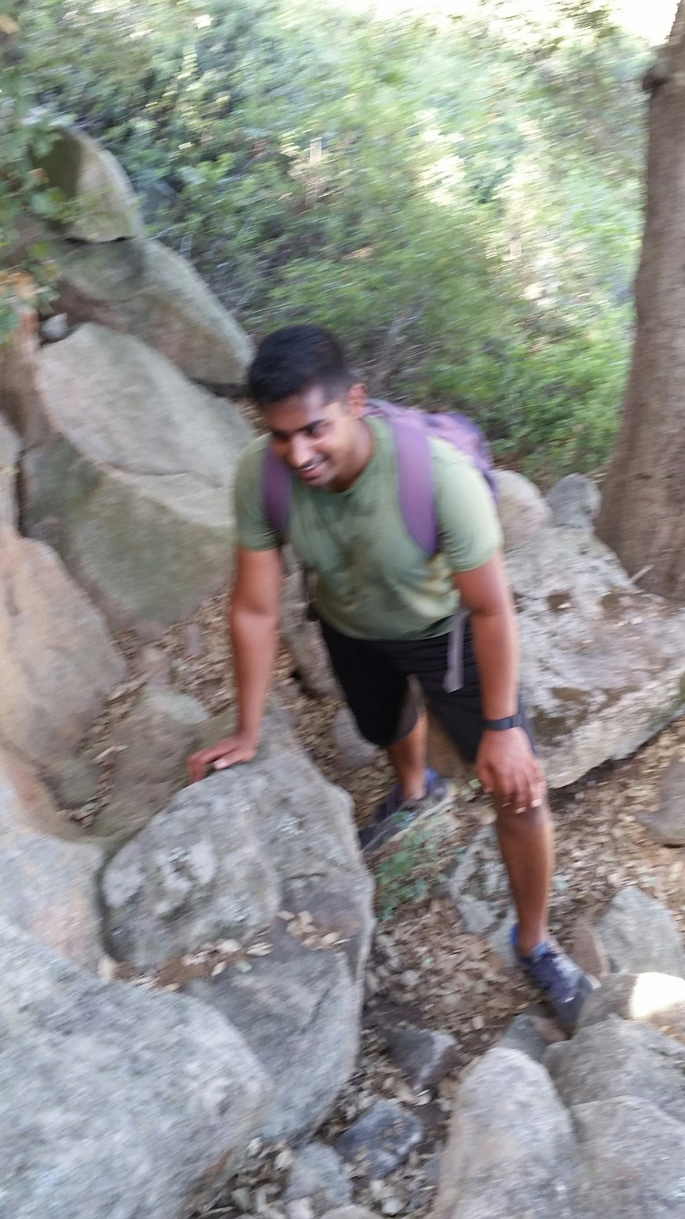 Personal trainer hiking Mt. Woodson