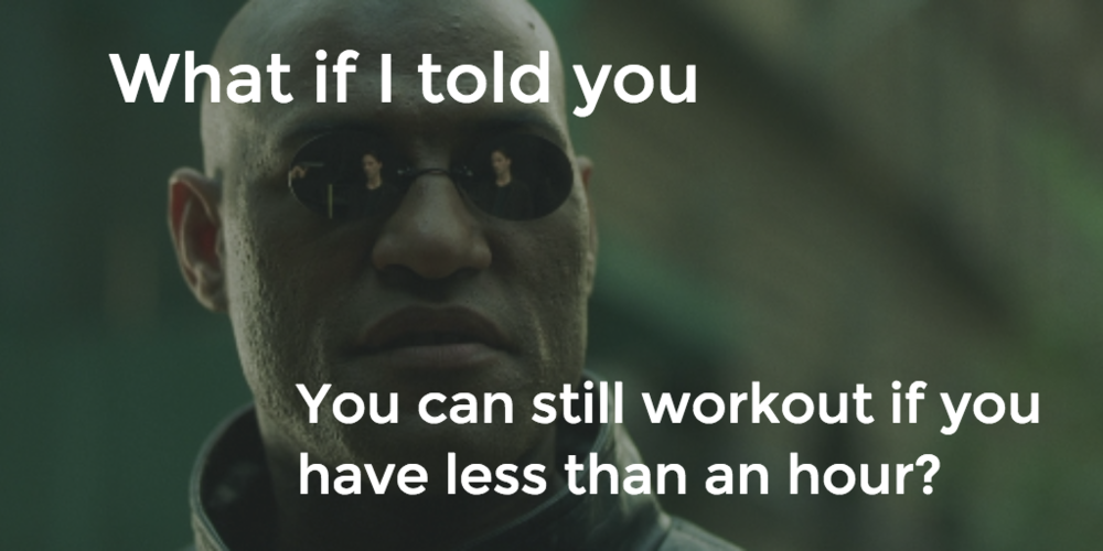 Morpheus Workout Meme