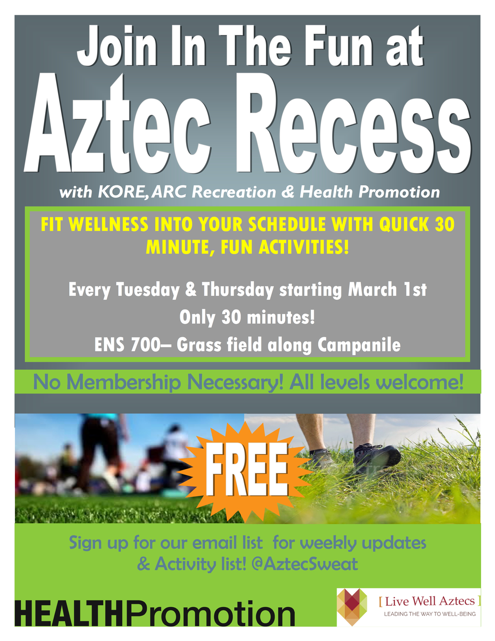 Aztec Recess Flyer