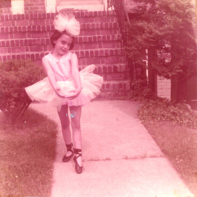 my mom, at about 3 years old, rockin' that fascinator like Isabella Blow