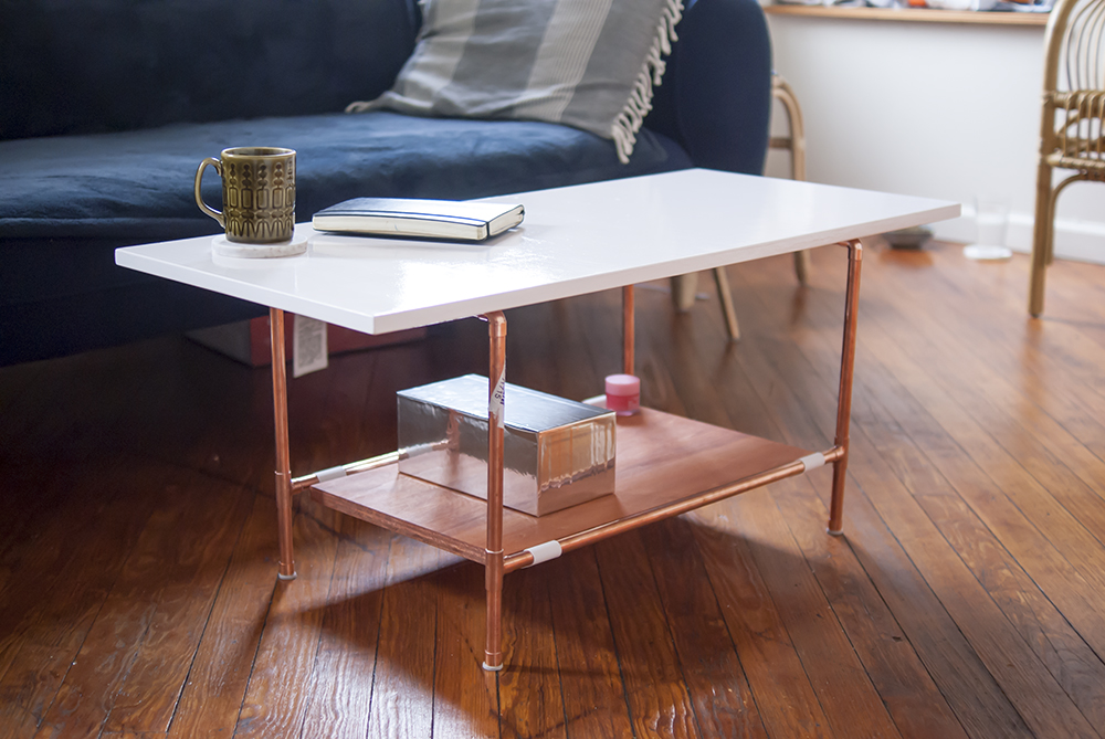 DIY Copper Pipe Coffee Table   Easy To Make! #copperpipeDIY #furnitureDIY # Coffeetable