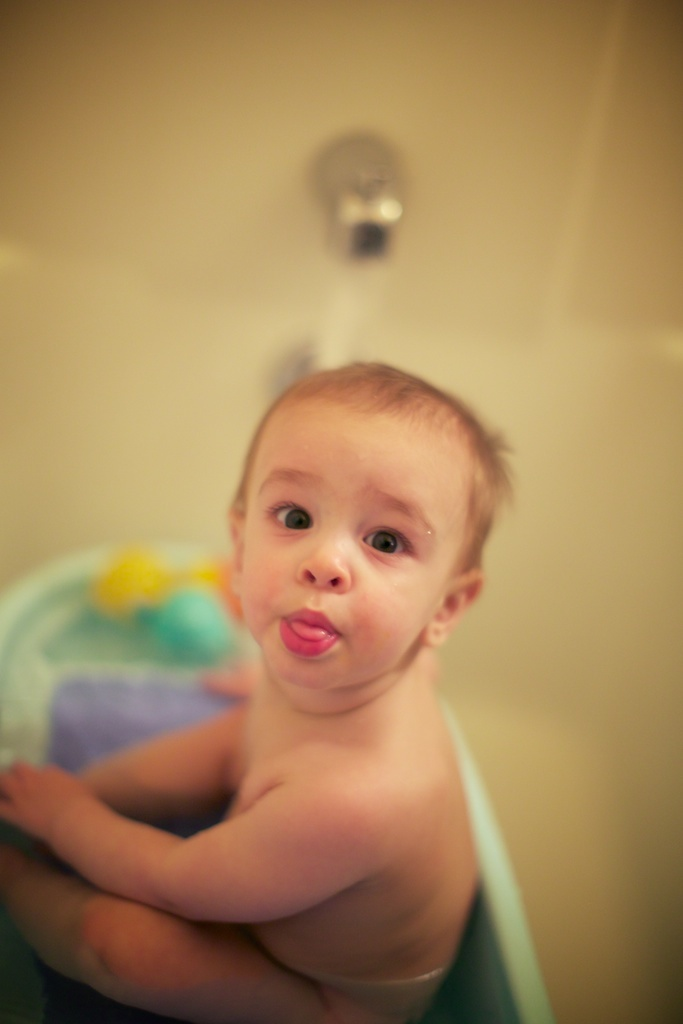 Yeah bath-time!
