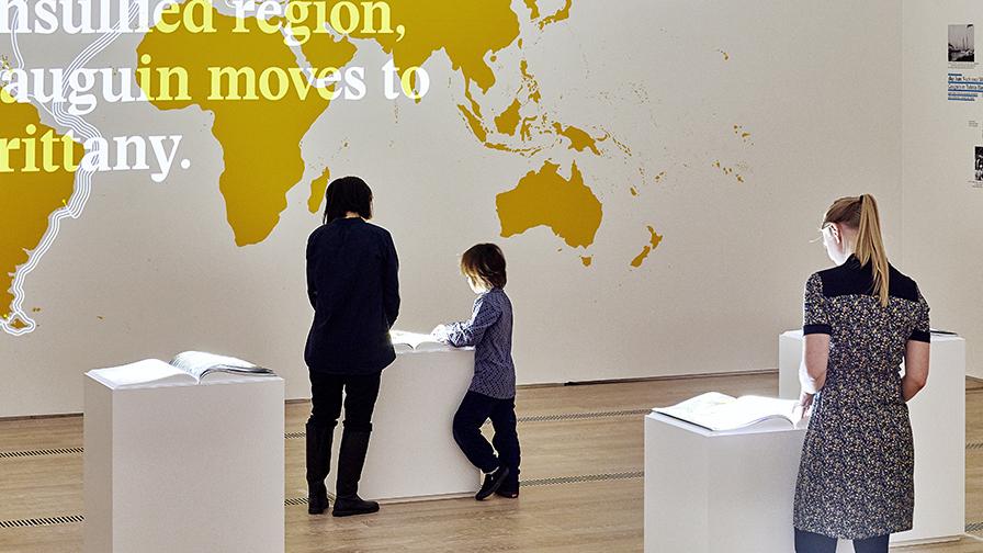 Von iart entwickelte Installation in der Fondation Beyeler, Basel / Foto: Mark Niedermann
