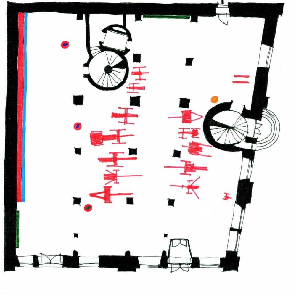 Vermittlungsebenen im 1. Obergeschoss