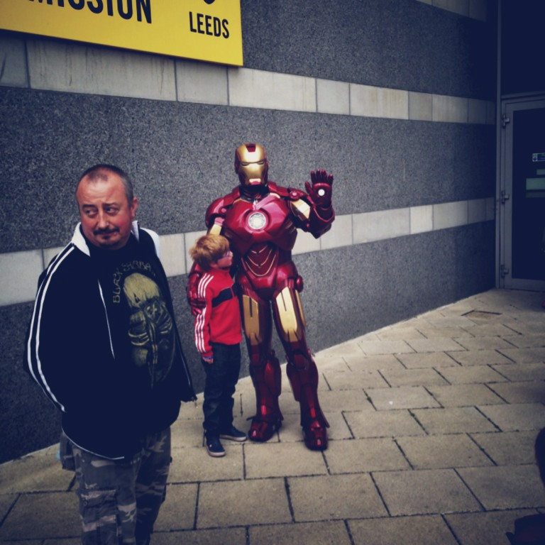 Iron man - Part of a special Superhero's and Villansexhibit