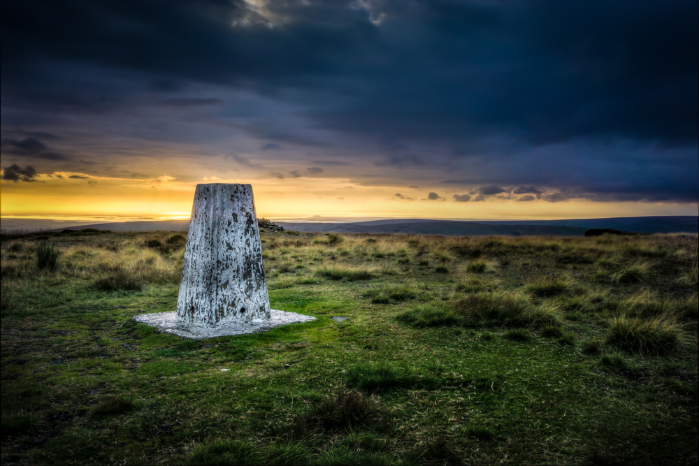 Trig point at Fair Snape Fell