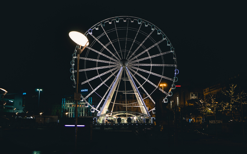 The wheel at night looked pretty awesome