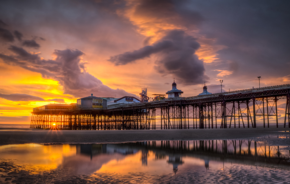 Blackpool North Pier Sunset
