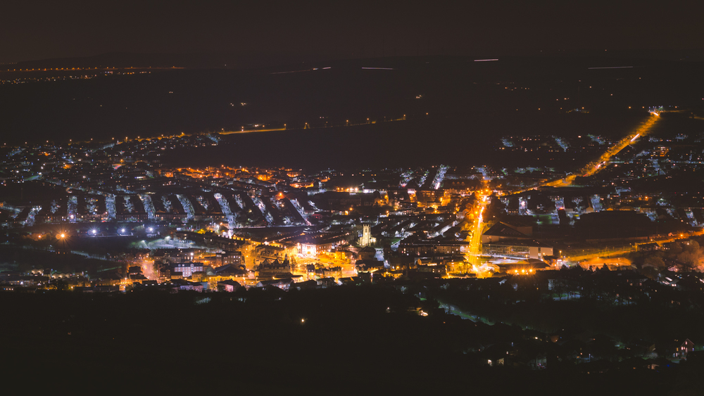 Darwen Town At Night