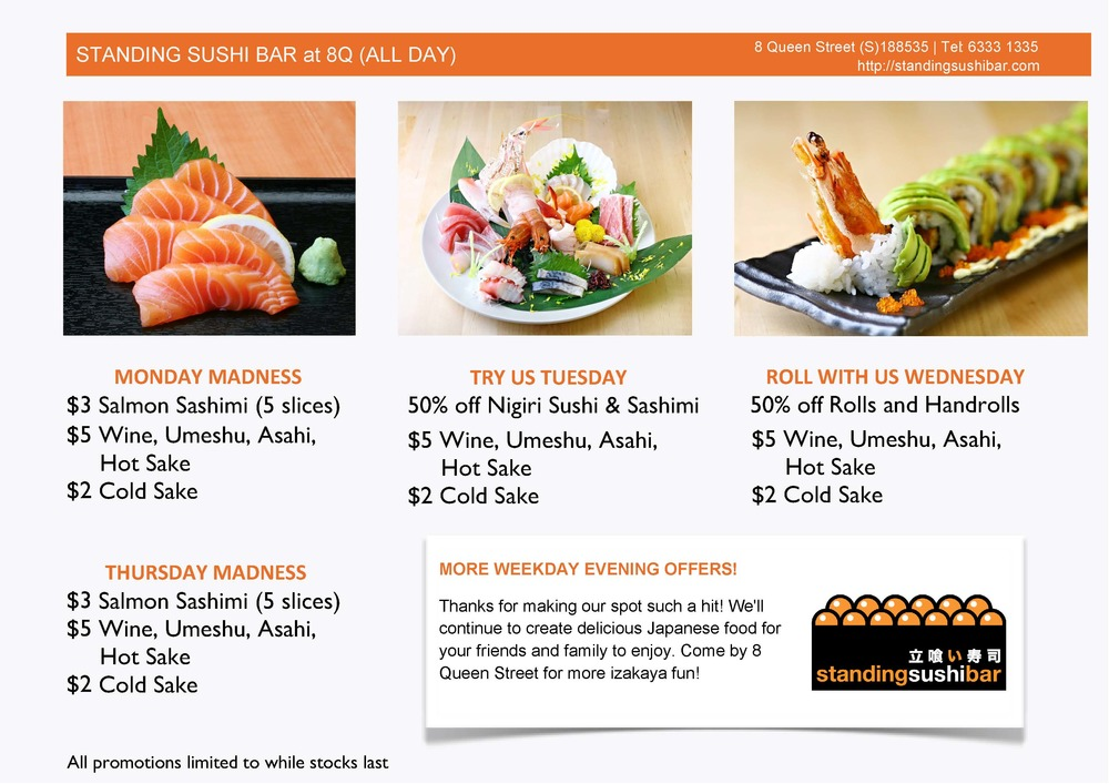Standing Sushi Bar Promotions