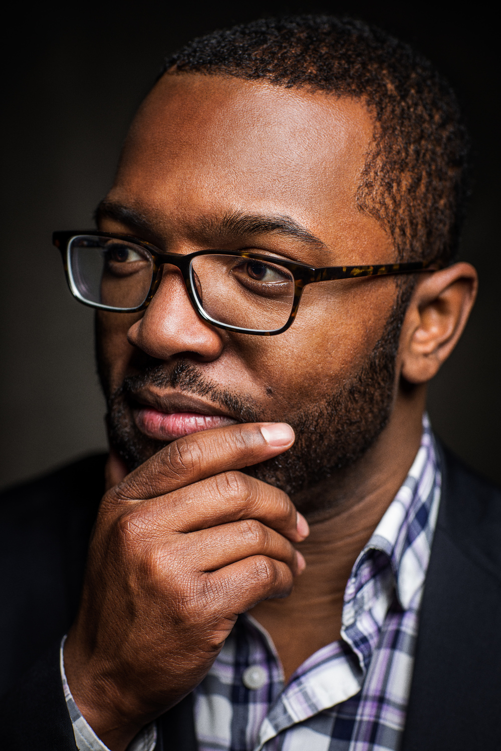 Baratunde Lookin All Thoughtful (color) high resolution