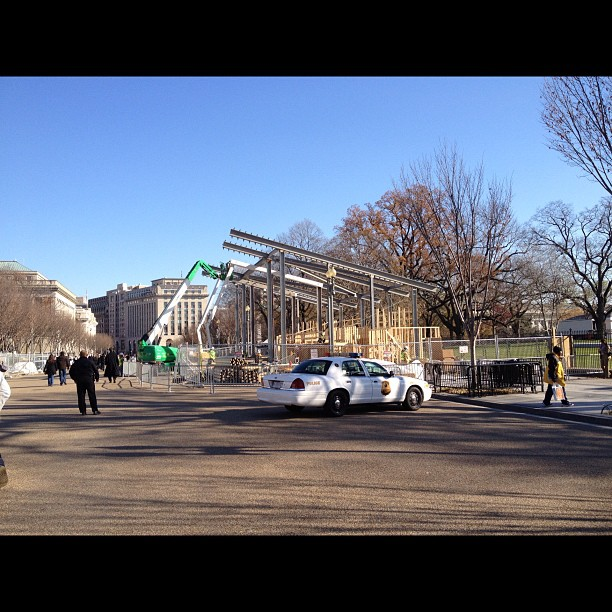 Setting the stage for #inauguration. #2Termz! (at The White House)
