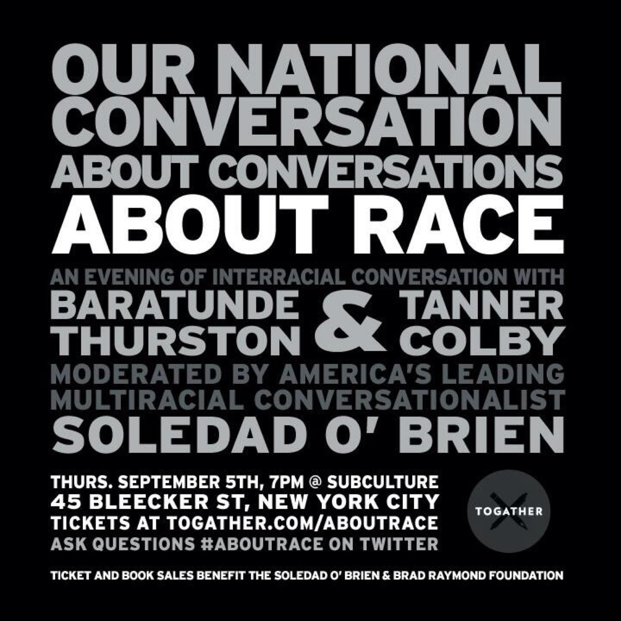 This event will be so damn cool. You have to join if in #NYC. #howtobeblack http://togather.com/aboutrace – View on Path.