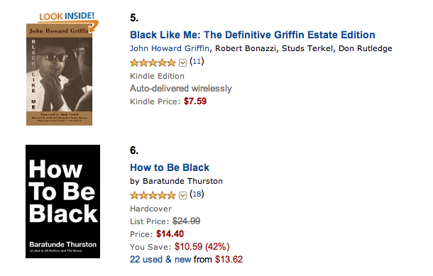 "sitting right next to ""Black Like Me"" on the Best-Sellers In Ethnic And National Biographies list on Amazon."