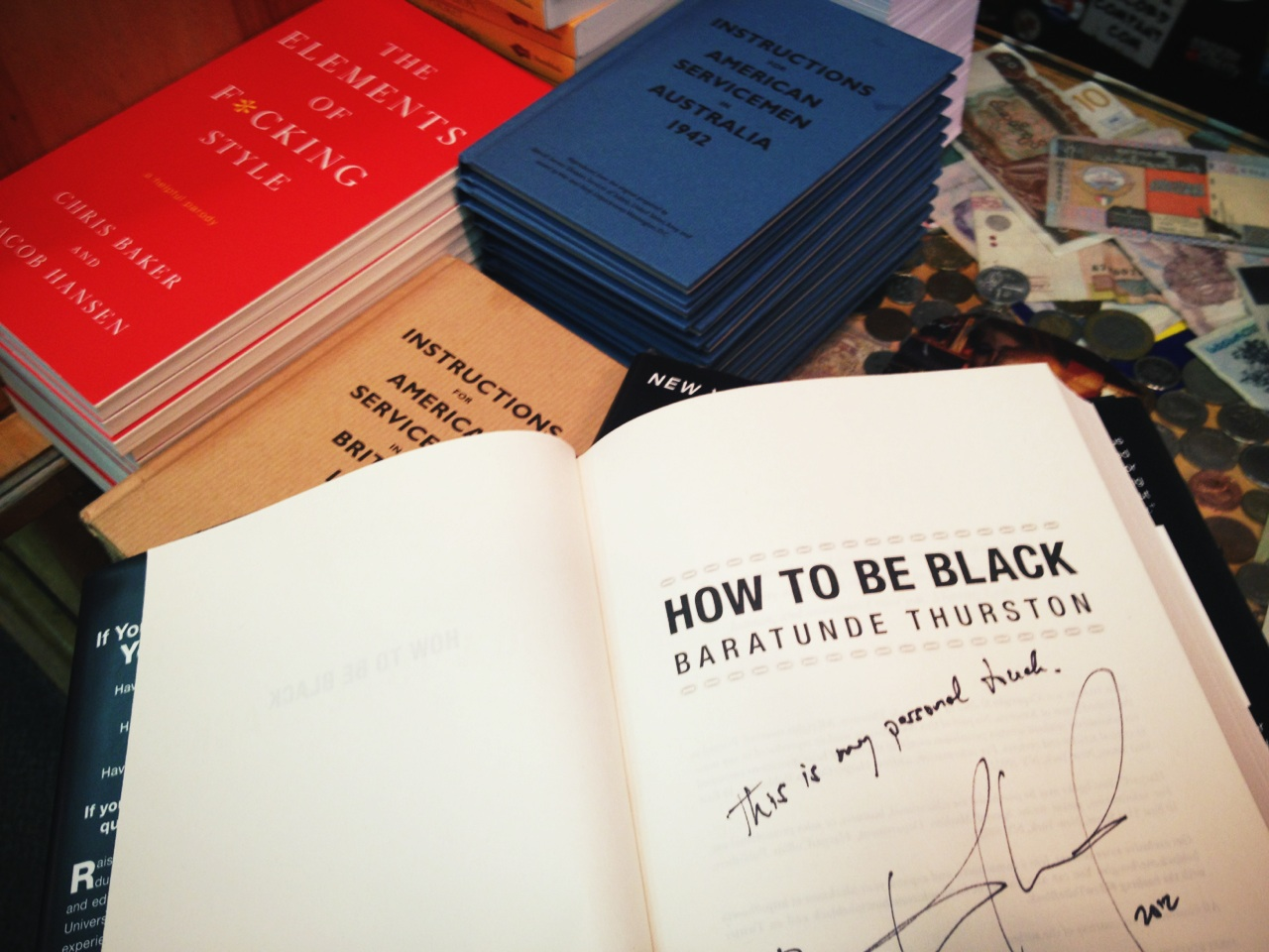 There are six signed copies of #HowToBeBlack at this store. #bookriots #getemwhiletheyreblack at Kramerbooks & Afterwords Cafe