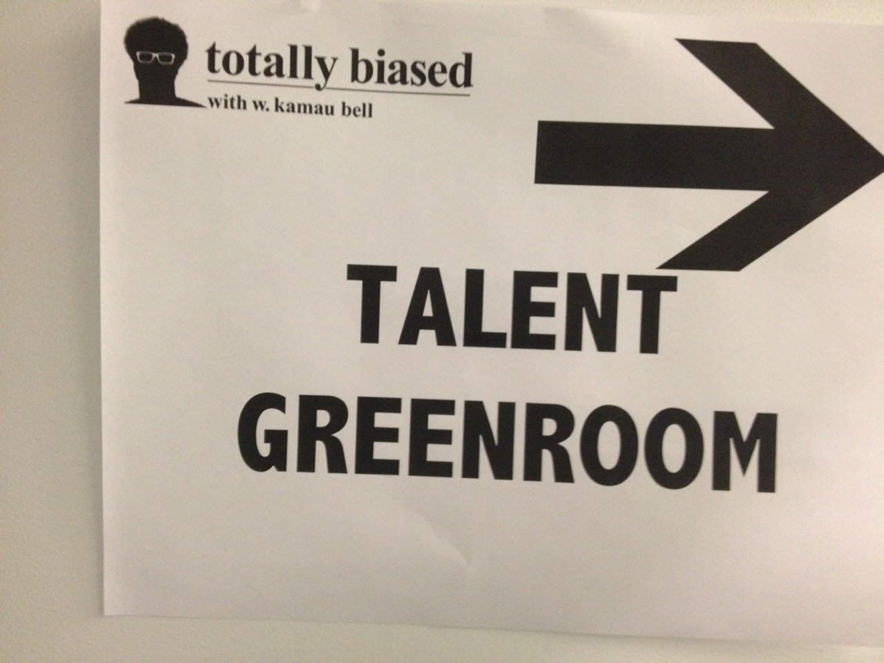 I'm the guest on the test show for @TotallyBiasedFX. Premieres THIS Thursday 11p ET after Louie. Also I MET CHRIS ROCK at Manhattan Center Studios