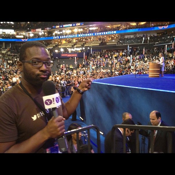 Me on the floor at #dnc2012 (Taken with Instagram)