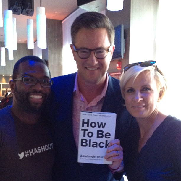 It's #howtobeblack with @joeNBC & @morningmika during #hashout (Taken with  Instagram  at Huffington Post Oasis)