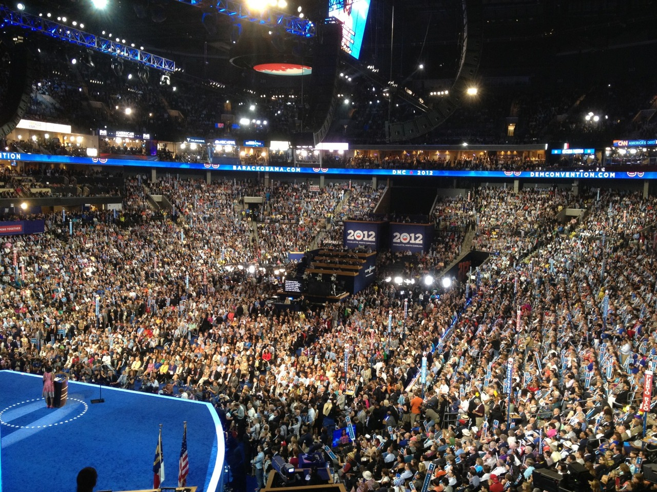 "#FLOTUS view: ""being president doesn't change who you are. It reveals who you are"" #dnc2012 – View on Path."