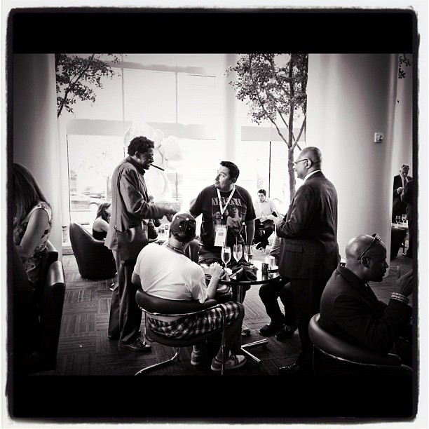 And #BlackDynamite makes an appearance at #dnc2012  (Taken with  Instagram  at Westin Lobby Bar)