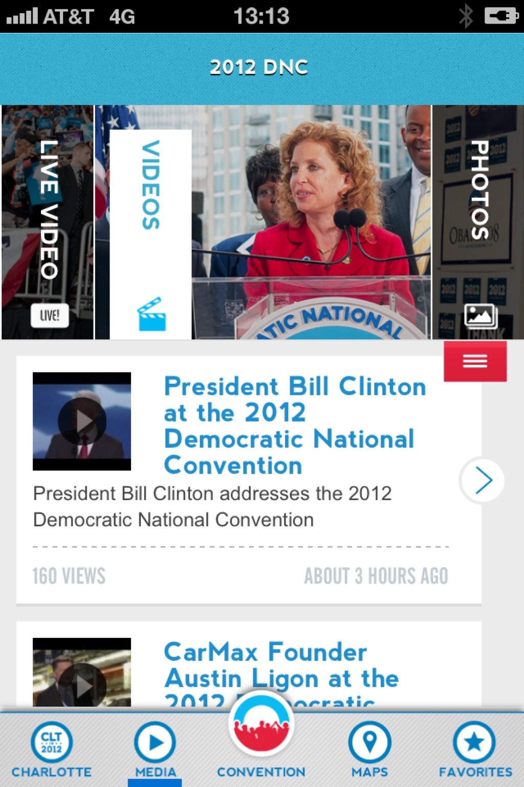 Missed Bill Clinton's speech at #dnc2012? You can get it in the DNC 2012 apps for iPhone & Android – View on Path.