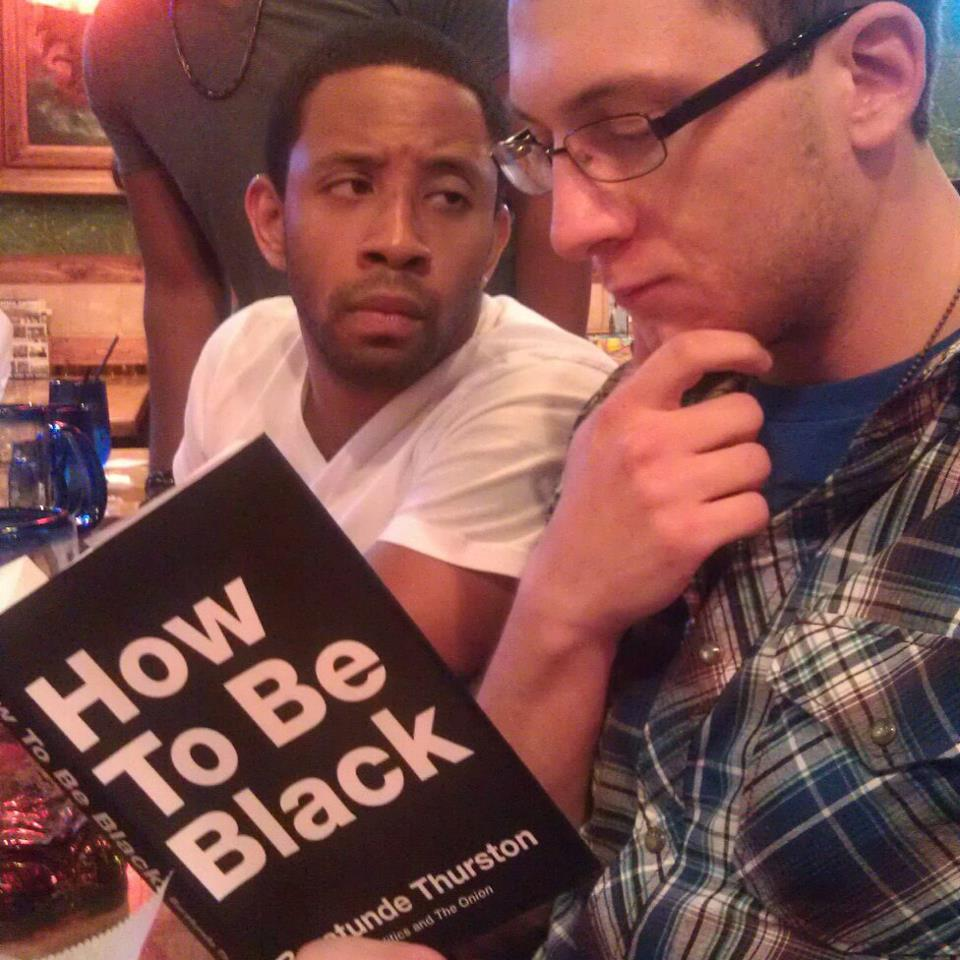 "This holiday season, gift the gift of blackness. And awkwardness for your friends. ""How To Be Black"" is  now available in paperblack . (also, it's only $2.99 on Kindle and iBooks, so if you're afraid to read in public, there's special pricing for cowards!)"