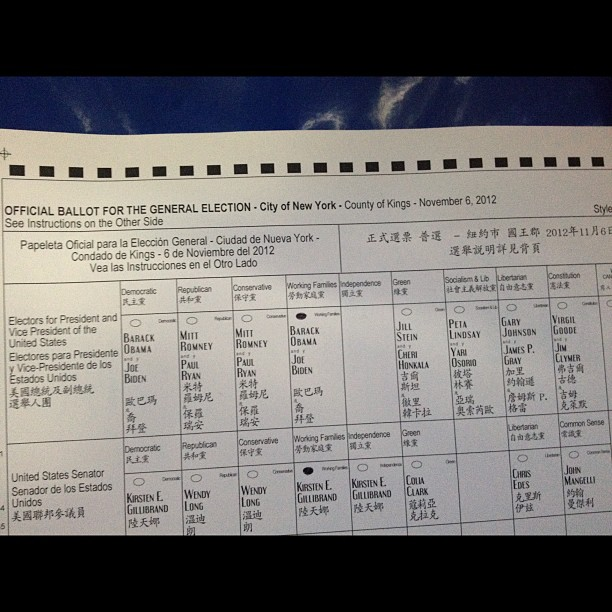 #Ivoted for @BarackObama & the @WorkingFamilies slate!! #forward #wevotehard #NYvote