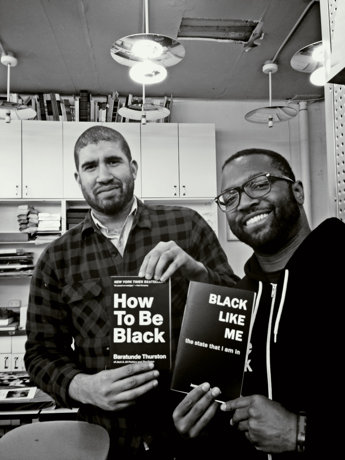 Meeting of the minds. @therealhennessy & #blacklikeme meet #howtobeblack at Printed Matter – View on  Path .