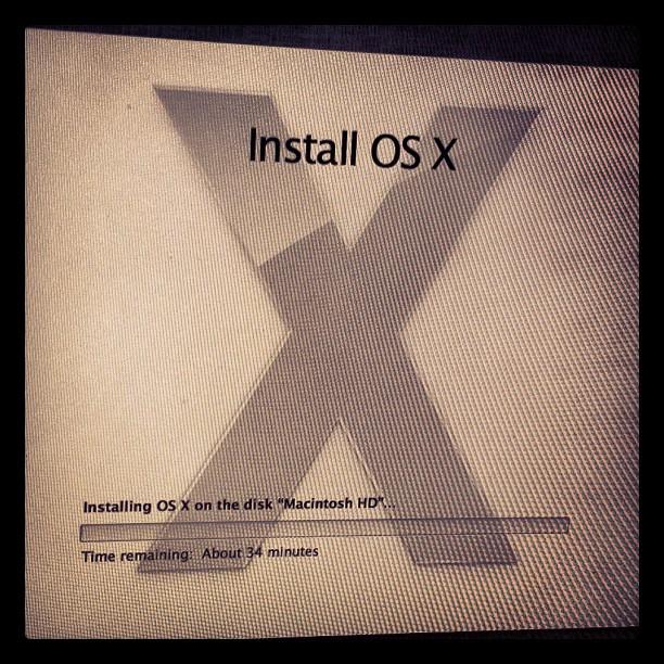 Just installing El-Hajj Malik El-Shabazz onto my iMac.