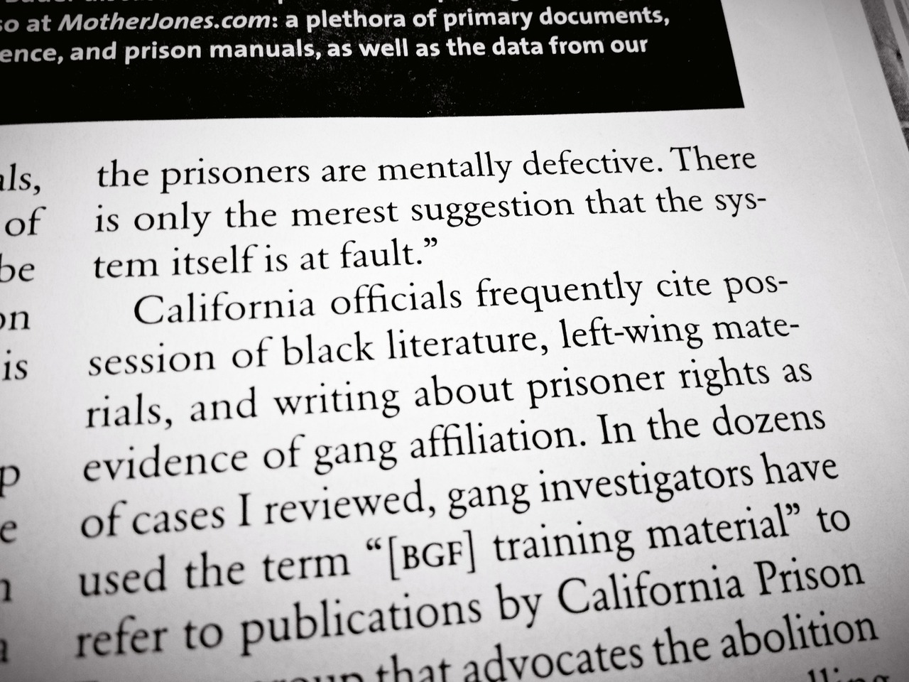 Reading about solitary confinement and other prison abuses in @MotherJones. #americafuckyeah – View on Path.