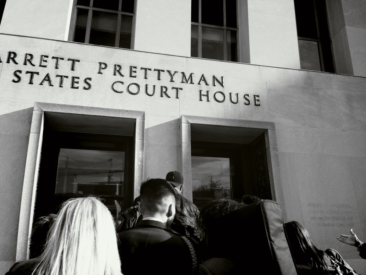 """I'm going in with my head held high"" -@ltdanchoi heads into court #fail2obey at E. Barrett Prettyman Federal Courthouse – View on Path."