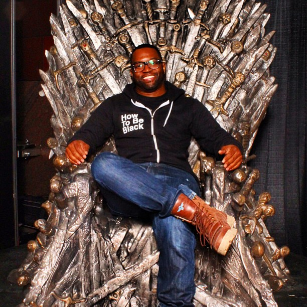#howtobeblack takes the throne. #gameofthrones #wintertunde