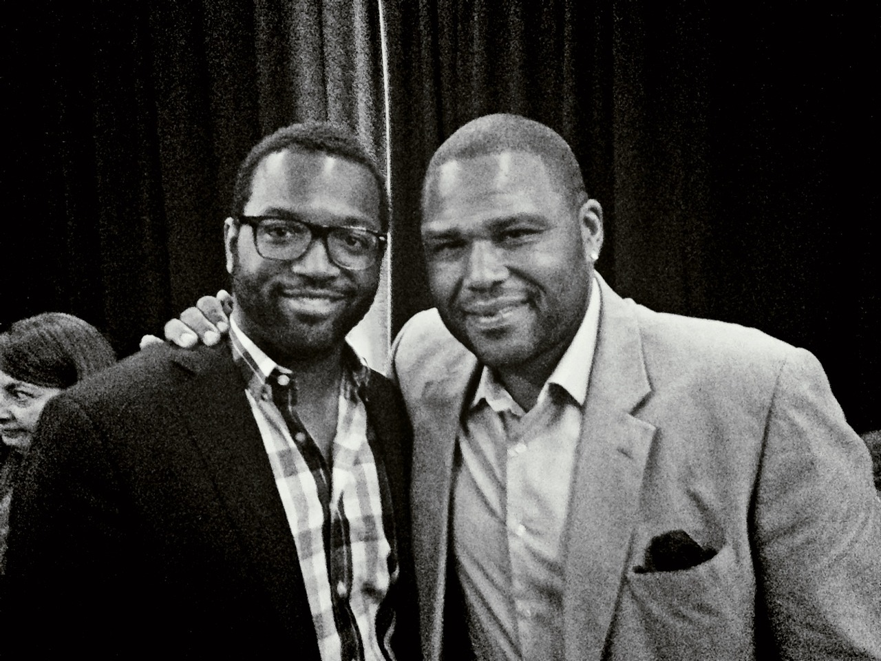 Met @AndersonAnthony at #AOLNewFront. We are both loud. – View on Path.