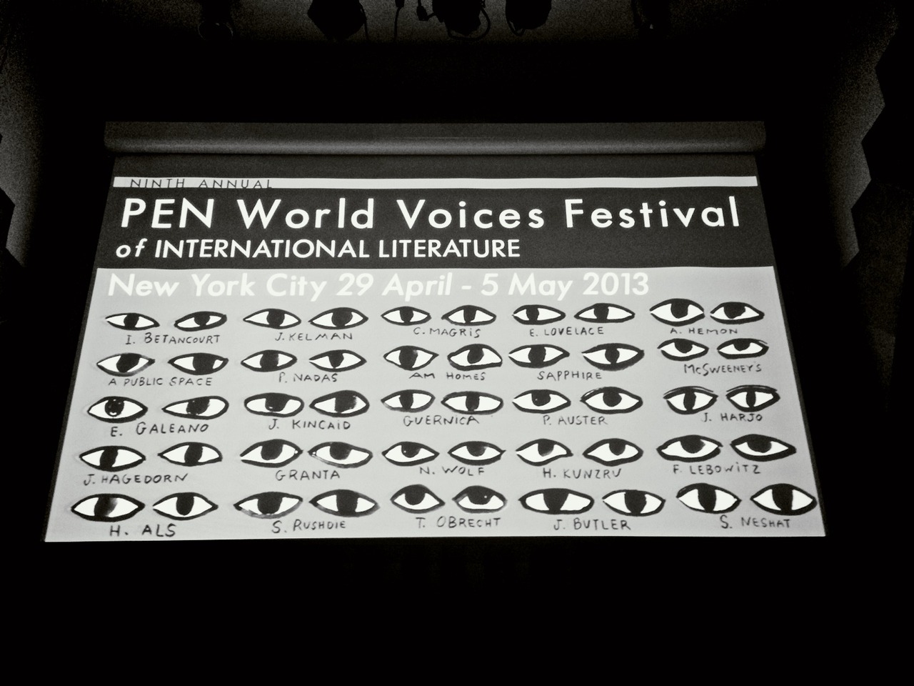 #showtime! Emceeing #penfest13. Some amazing writers in town at Cooper Union Great Hall – View on Path.