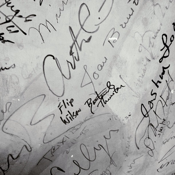 Just signed the wall next to #FlipWilson (at Bushnell Center for the Performing Arts)