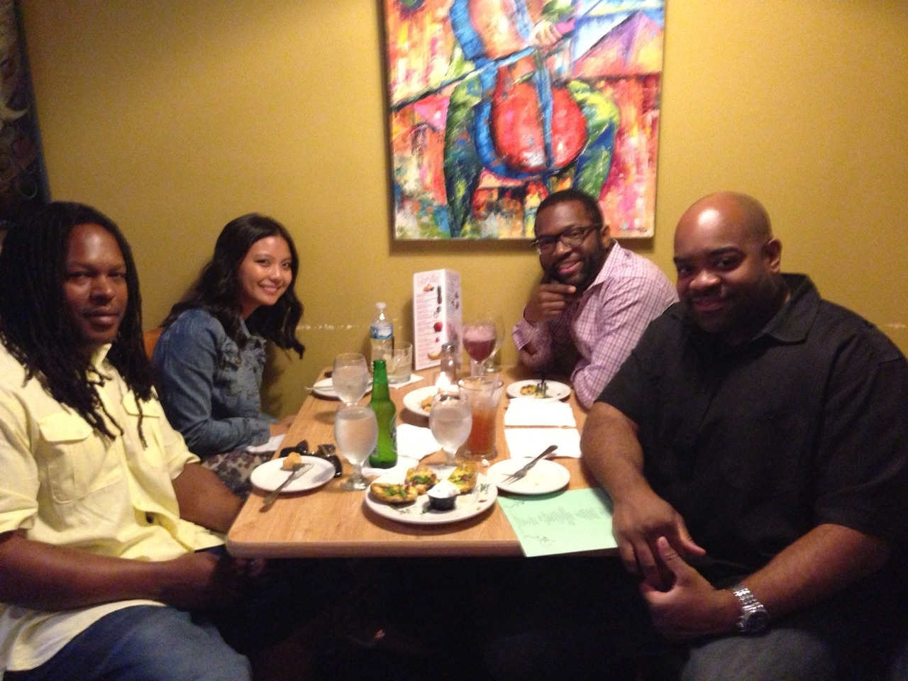 Team dinner in The D! #Funded with Shaka at 1917 American Bistro – View on Path.