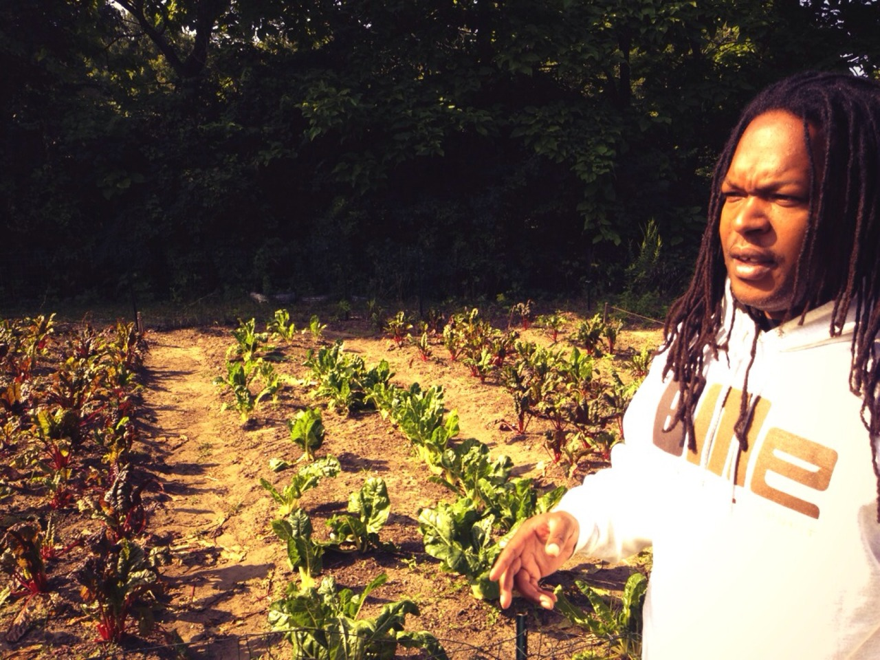 Filming for #Funded. #AnotherDetroitIsHappening #DTownFarms with Shaka at Rouge Park – View on Path.