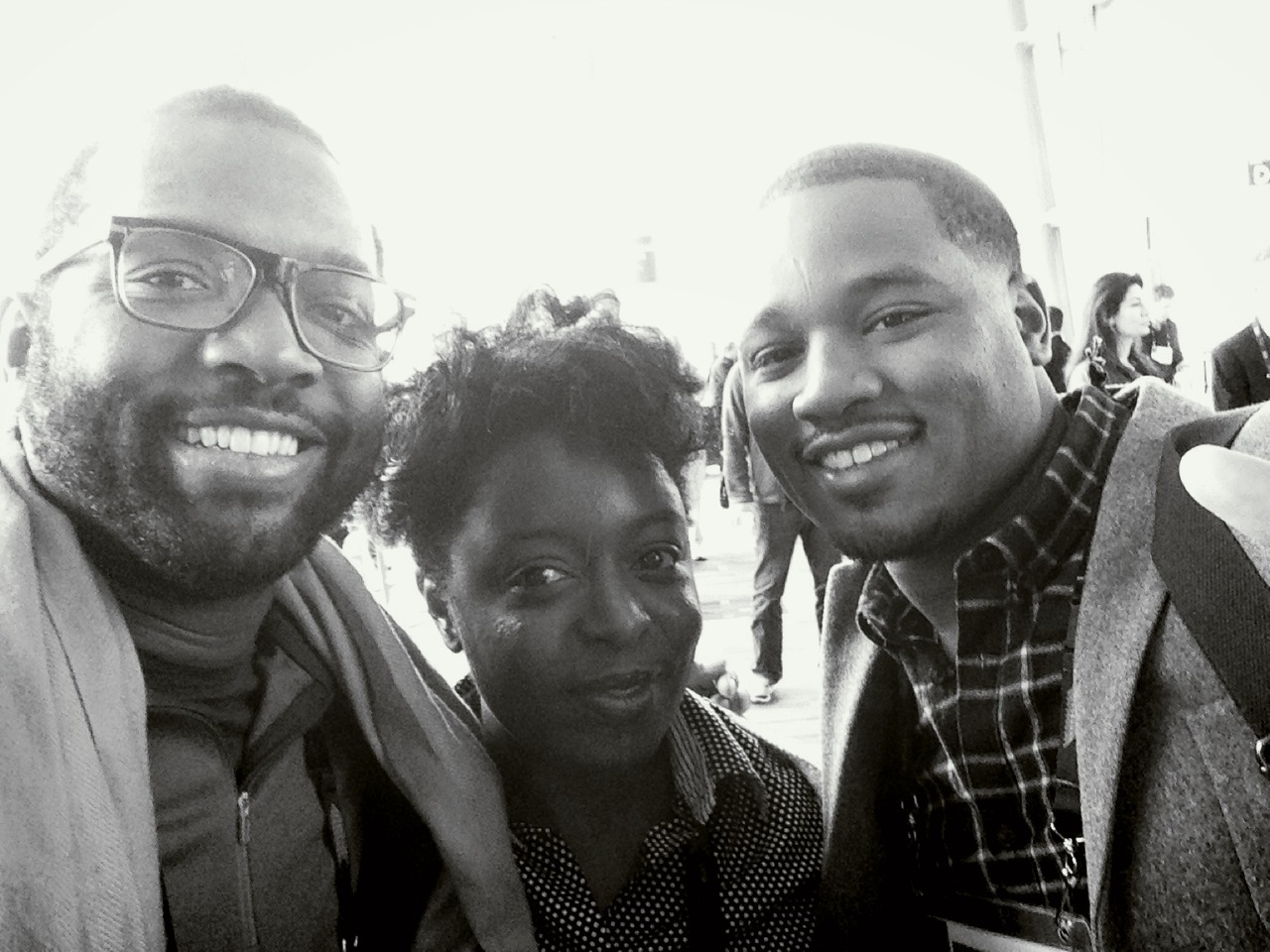Me + Kimberly Bryant (Black Girls Code) + Ryan Coogler (Fruitvale Station) at TED 2014 - The Next Chapter – View on  Path .