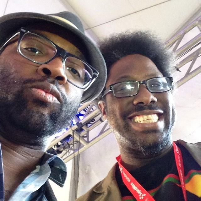Me + @wkamaubell @billcosby #standup #cosbyshow #sxsw #blackselfie #blelfie?