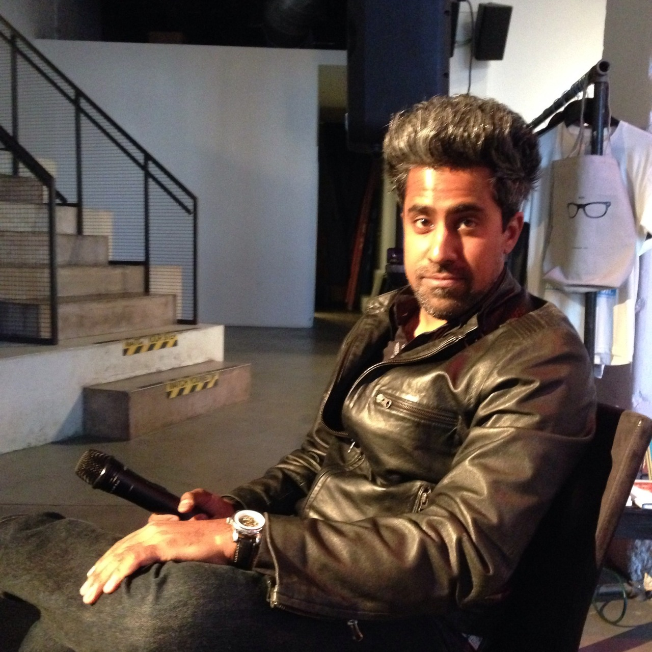 #showtime! Hosting @anandwrites for his book the #TrueAmerican at Powerhouse Arena – View on  Path .