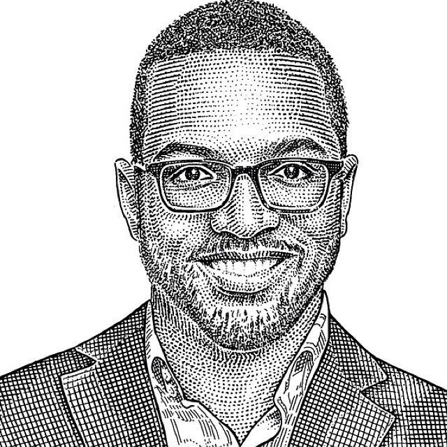 I got stippled! I'm in the #WallStreetJournal magazine and they made this #hedcut. #stippletunde