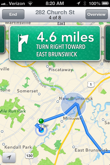 Apple's new maps UI - love the large great thumb targets