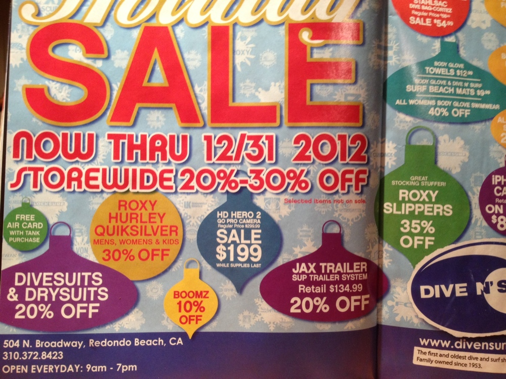 Dive N Surf Holiday Sale! http://divensurf.com/