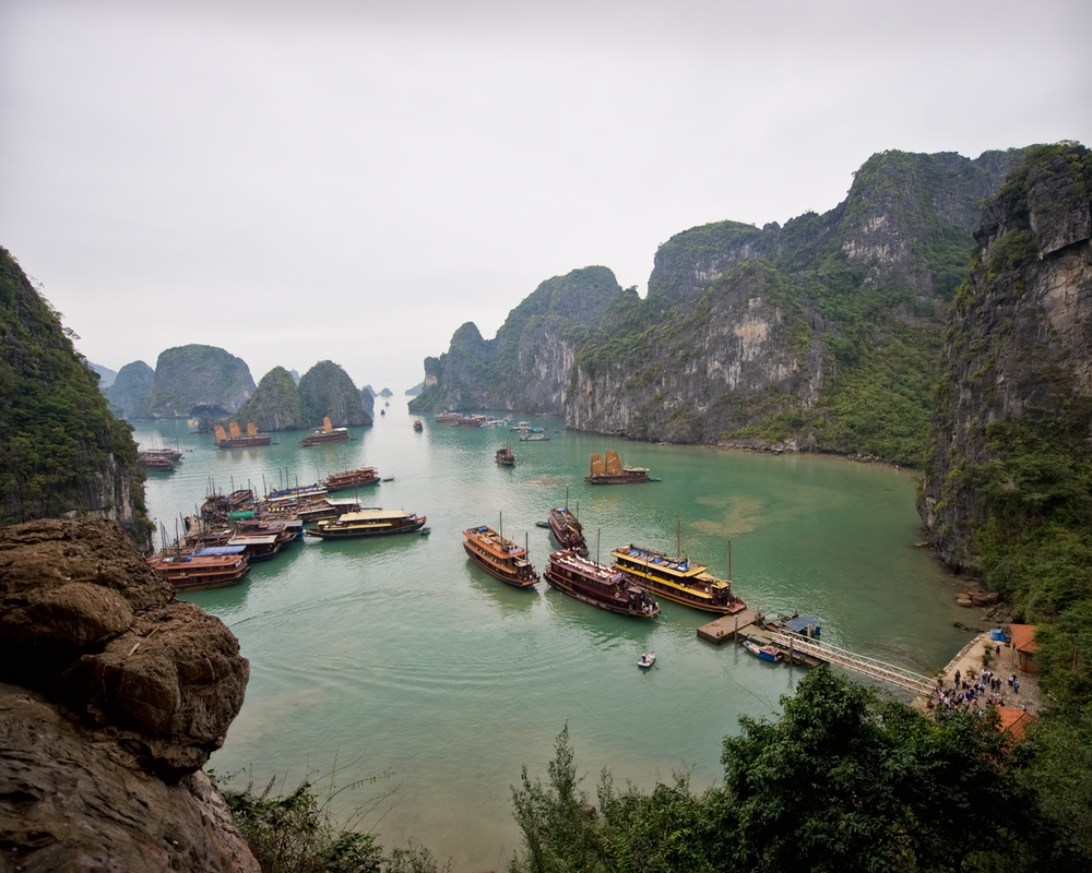 Tourist central on Ha Long Bay