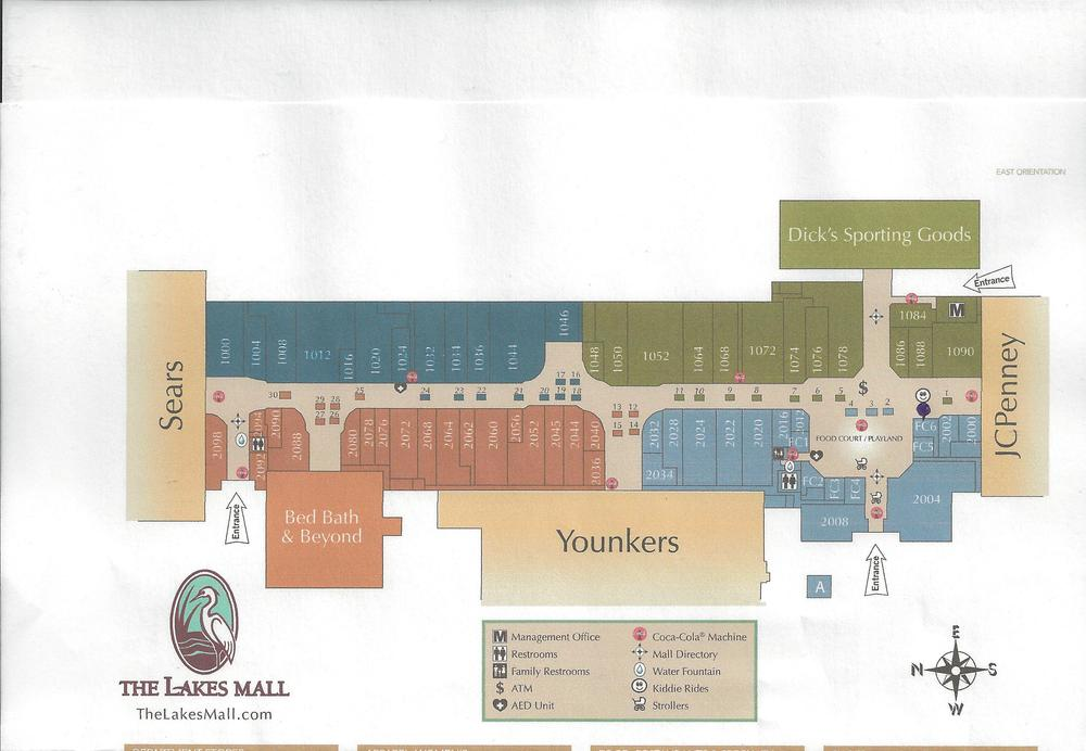 Look for us in the Food Court Play land area. Where the black dot is on the map above. We are next to Chuck E Cheese entrance.