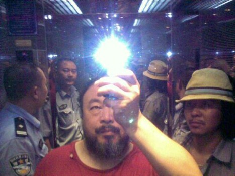 Photo posted on Weiwei's Twitter following beating.